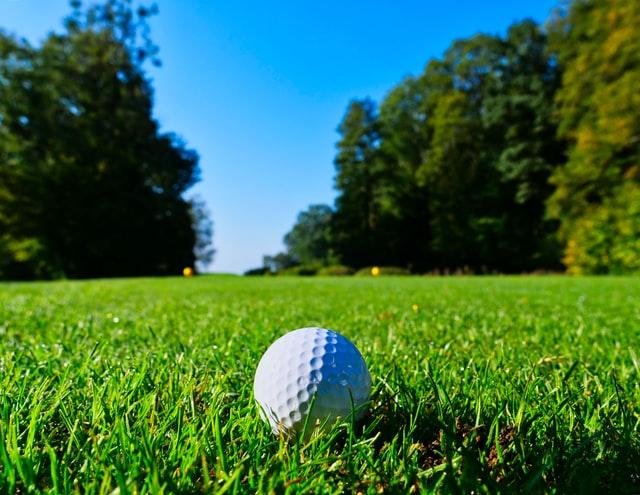 Golfball on the fairway